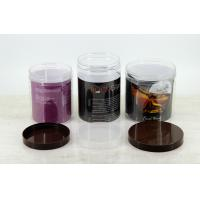 Buy cheap Promotional Food Packaging Clear plastic pet Jars witn PE cap 100mm from wholesalers