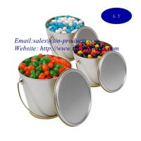 Buy cheap metal bucket, tin bucket ,  for food tin pail with handle ,metal bucket with handle, Tin pail from Goldentinbox.com from wholesalers