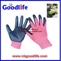 Buy cheap 13G Black Seamless Knitted Nitrile Working Gloves/safety gloves/knitted gloves from wholesalers