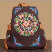 Buy cheap Backpack women cute travel backpacks hand charming embroidery shoulder bag from wholesalers