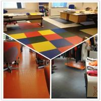 Buy cheap 3W Anti Slip Indoor Office Interlocking Removable Plastic PVC Floorommg Tiles product