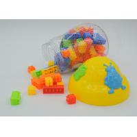 "2 "" Interlock Kids Plastic Building Blocks , Mushroom Box Educational Building Blocks"