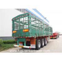 Buy cheap Carbon steel side wall trailer / 3 axle flatbed truck trailer for transport bulk cargo from wholesalers