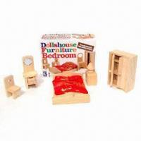 Buy cheap Miniature Dollhouse/Doll Furniture, Made of Natural Wood from wholesalers