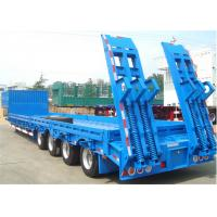 Buy cheap 3 axle 28T load landing leg retractable drop low bed trailers with hydraulic ramp from wholesalers