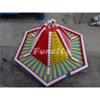 Buy cheap 15mL*15mW*8mH PVC Tarpaulin Giant Inflatable Volcano Rock Climbing Wall With Slide For Children from wholesalers