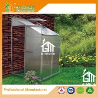 Buy cheap Sliver Color Wall Lean-to 4mm PC Aluminum Greenhouse - 4'x4'x6.7'FT from wholesalers