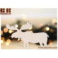 Buy cheap Christmas Wooden Pendant Ornament Snowflakes Deer Tree Christmas Decorations Gifts from wholesalers