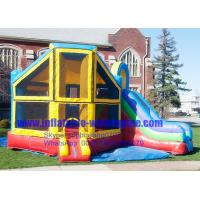 Buy cheap Heavy Duty Rainbow Inflatable Bouncy Castle With Slide , Inflatable Jumping Castle Combo from wholesalers