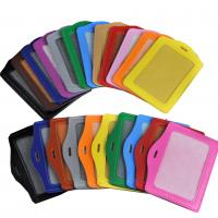 Buy cheap business exhibition PU leather staff ID name tag badge card holder from wholesalers