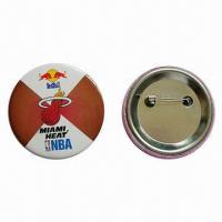 Buy cheap Tin Badge, Fashionable and Cheap, Customized Designs are Welcome from wholesalers
