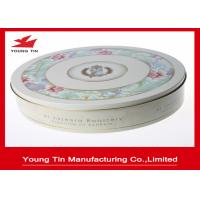 Round Cookie Packaging Metal Gift Tins Box  0.23 MM Full Color Printed ISO 9001