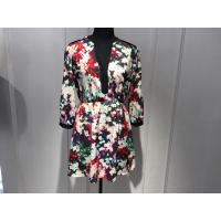 Buy cheap Sexy Womens Floral Blouse , Floral Summer Dresses Deep V Neck BGW008 from wholesalers