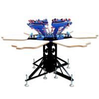 Buy cheap manual 6 color 6 station silk screen printing press for sale from wholesalers