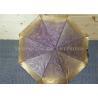 Buy cheap Purple Waterproof Women Windproof Folding Umbrella Fiberglass Ribs from wholesalers