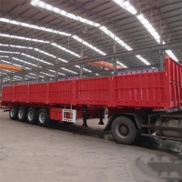 Buy cheap CIMC 4 Axle High Flatbed 60T Side Wall Semi Trailer from wholesalers
