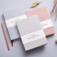 Buy cheap Exquisite Linen Cover Journal , Hard Cover Notebook With Blank / Lined Paper 128 Sheets from wholesalers