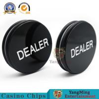 Buy cheap Casino Baccarat Markers 76mm Custom Black White Silk Screen Engraving Texas Holdem Button from wholesalers