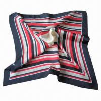Buy cheap Silk Printed Scarf With 12m/m Silk Twill Fashion Design, OEM Orders are Welcome from wholesalers
