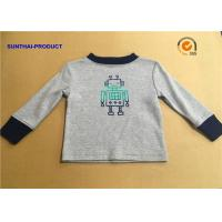 Buy cheap 100% Cotton Children T Shirt Long Sleeve Round Neck Heather Gray SGS Certified from wholesalers