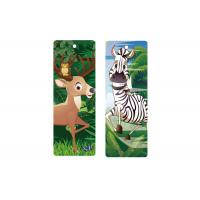 Buy cheap Custom 5.6x15.3cm 3d Animal Bookmark With Tassel Lenticular Flip 0.6mm PET For Books from wholesalers