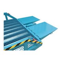 Buy cheap 8000Kg Manual Mobile Dock Ramp , Mechanical Durable Mobile Loading Dock from wholesalers