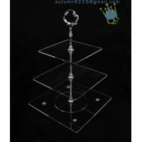 Buy cheap CD (42) 3-layer cake stand with silver stick product