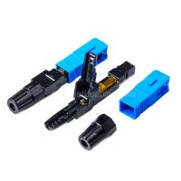 Buy cheap 0.2dB SC / UPC Fiber Optic Fast Connector Blue FOR FTTH Flat Drop Cable product