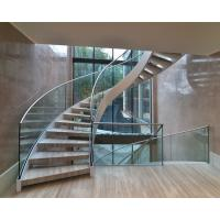 Buy cheap Elegant interior wooden curved staircase with 50mm solid oak wooden treads product