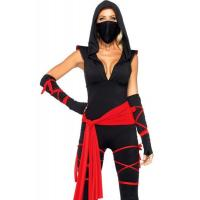 Buy cheap Hero Costumes Wholesale Spandex Black Sexy Ninja Costume with size S to XXL from wholesalers