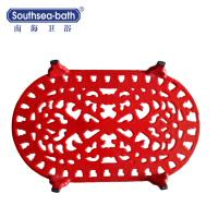Buy cheap 2018 Wholesale Customized Oval Red Cast Iron Pot Pad/Cast Iron Trivets from wholesalers