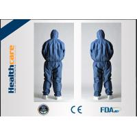 Buy cheap CE Approved Disposable Protective Coveralls Nonwoven Suits White / Yellow / Blue Color from wholesalers