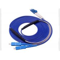 Buy cheap SC / UPC - LC / UPC Fiber Optic Patch Cord 3M SM Fiber Optic Duplex Cable For FTTH from wholesalers