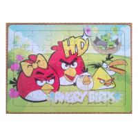 Buy cheap Customized Picture Personalised Jigsaw Puzzles Cardboard Angry Bird 4C Printing from wholesalers