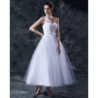 Buy cheap Elegant Heart Shaped tea length wedding dresses gowns in S M L XL XXL size from wholesalers