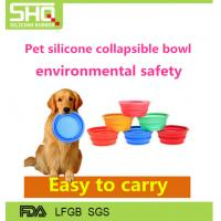 Buy cheap 2016 Foldable Hot Pet's gift Colourful silicone rubber travel dog bowl from wholesalers