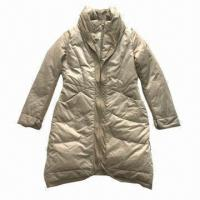 Buy cheap Women's fashion down jacket, made of 100% polyester with knitted fabric from wholesalers
