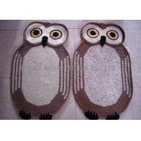 Buy cheap Home Decoration Crochet Oval Rag Rug Anti - Slip Crochet Owl Rug 85cm x 55cm from wholesalers