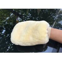 Buy cheap Genuine Sheepskin Car Wash Mitt Double Side Wool Wash Mitten for Car Detailing from wholesalers