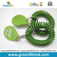 Buy cheap Green Deluxe Wrist Strap Band W/Split Ring&Rubber Logo Tag from wholesalers
