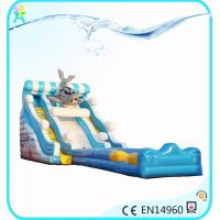 Buy cheap Inflatable commercial water park products Water Slides, seal sea dog type inflatable slide from wholesalers