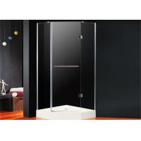 Buy cheap Diamond Frameless Hinged Shower Enclosure 800 x 800 Folding Open With Magnetic Seal from wholesalers