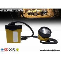Buy cheap 3.7V li-ion battery 25000lux rechargeable miners cap lights with cable indicator LED from wholesalers