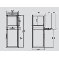 Buy cheap Anti Corrosive Network Cable Storage Cabinet , Rack Mount Locking Server Cabinet product