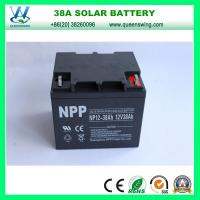 Buy cheap AGM/Gel 12V 38A Deep Cycle Solar Battery (QW-BG38A) from wholesalers