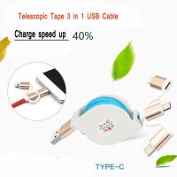 China 2.4A Quick Multi Charger Micro USB Cable 3 In 1 For IPhone Android Watch on sale