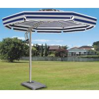 Buy cheap Side Pole Striped Double Patio Umbrella Colorful Beach Parasol For Shopping Street / Villa product