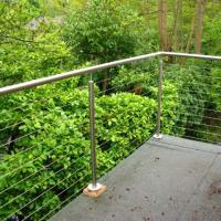 China Outdoor Balcony Railing Stainless Steel Cable Railing/Wire Rope Fittings on sale