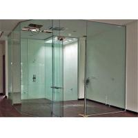 Buy cheap Clear Flat Tempered Glass Partition Wall / Glass Partition Size Customized from wholesalers