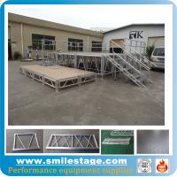 Buy cheap Aluminum portable stages with adjustable stage legs for catwalk show from wholesalers